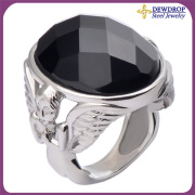 Unique Angel Wings Ring Big Crystal Jewelry