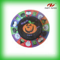 Customizable colorful disposable paper plate
