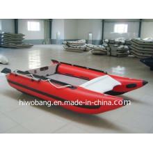Ins Auge fallendes rotes Farbgeschwindigkeits-aufblasbares Boot, Fiberglas-Kegel-Ruderboot mit CER China