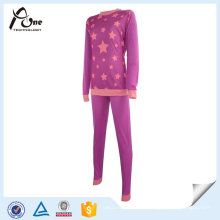 Menina Adolescente Pequena Customed Lady Thermal Ski Underwear Set