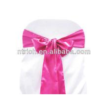 Fushia Satin chair sash, chair ties, wraps for wedding banquet hotel