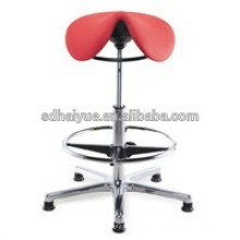 2016 Simple design Top sale saddle stool with blue fabric