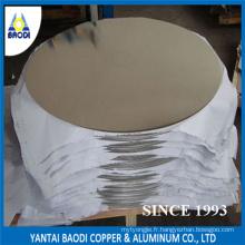 Usine chinoise de disque de plat de cercle en aluminium