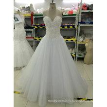 Новый шарик/жемчуг/стразы/Кристалл свадебные платья с тюль поезд