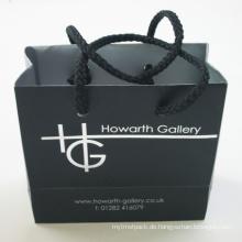 Papiereinkaufstasche mit individuellem Logo und Baumwollgriff