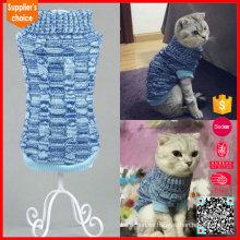 Modelo personalizado de punto de Navidad para suéter de perro