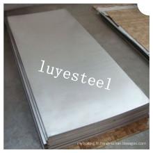 Feuille / plaque d'acier inoxydable d'ASTM 304 avec la qualité