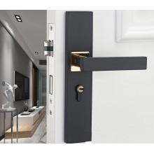 European Door Lock Home Silence Solid Wood Door Handle GO-SH1