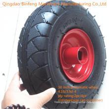 Pneumatic Rubber Wheel with Steel Rim for Wheelbarrow (3.50-4, 3.50-8)