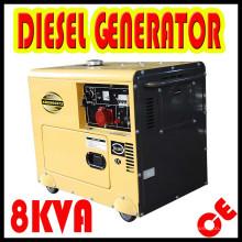 6kw / 8kVA refroidi par air Diesel générateur silencieux pour l'usage domestique! GROSSES SOLDES !