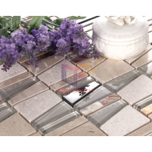Travertine with Crystal Metal Mixed Mosaic for Wall Decorate (CS223)