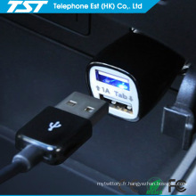 Chargeur de voiture traditionnel double USB 5V2.1A coloré par promo