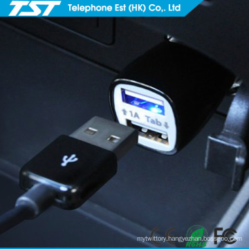 Promotional Colorful 5V2.1A Universal Dual USB Phone Car Charger