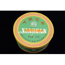 """2008 Xiaguan Fábrica """"FT Jia Ji"""" Caixa Verde Pu Puído Er Tuo 100g / tuo"""