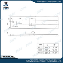 Hook twin tie plate for switches