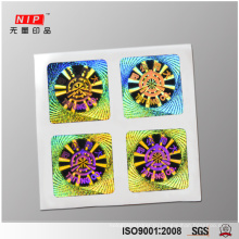 Hologram Security Perfume Label Sticker with Relief Elements Pressed