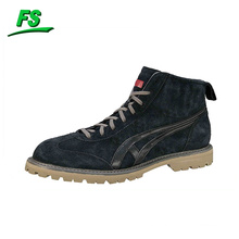 hi top cow suede boots for men