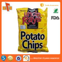 Impressão vazio alimentos grau alumínio folha de batata chips embalagem saco