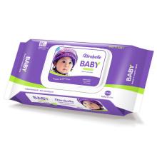 Lingettes nettoyantes hypoallergéniques pour bébé sans parfum