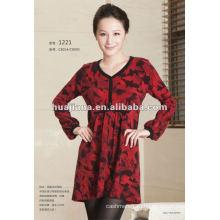 Анти-пиллинг кашемир вязание дамы свитер платье