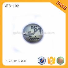 MFB102 Dekorative Button Logo Design für Jeans