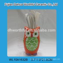 Nuevo utensilios de cocina titular de utensilios de cerámica en forma de búho