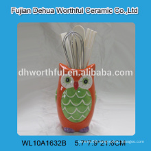 New kitchenware ceramic utensil holder in owl shape