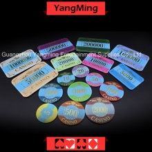 Coroa Bronze Poker Chip com luz UV (YM-CP003-004)
