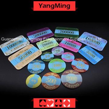자외선으로 크라운 브론 징 포커 칩 (YM-CP003-004)