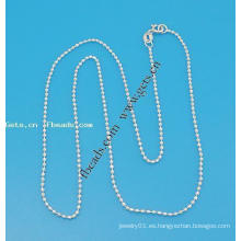 Gets.com 925 cadena de bola de plata esterlina para el collar
