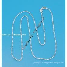 Gets.com chaîne de boule en argent sterling 925 pour collier