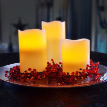 Wedding decoration real wax flameless LED candles