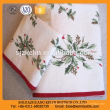 High quality Cotton velour christmas gift printing kitchen tea towel