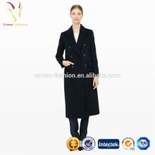 Abrigo largo de cachemir de invierno de mujer, abrigo largo para mujer