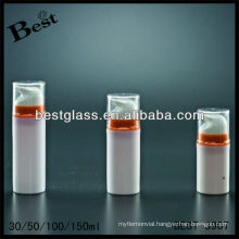 30ml round shape airless bottle, PMMA/as/abs/san/pp airless bottle