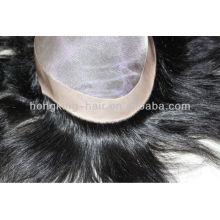 Toupets mono base 100% cheveux humains pour hommes noirs