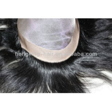 100% human hair mono base toupees for black men