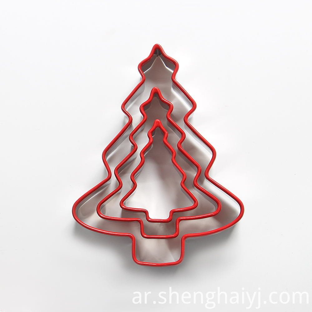 3pcs Stainless steel tree shaped cookie cutter set