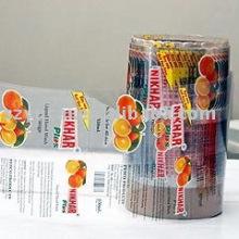 Custiomized transparentes Etikett