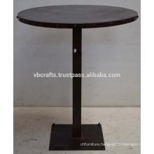 Modern Industrial Design Restaurant Furniture Rust Finish