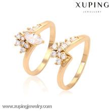 13554-Xuping Alibaba Newest Shining Set Diamond Loves Rings