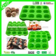 Moule à muffins au beurre de silicone professionnel / moules à muffins en silicone