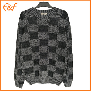 Men Crew-neck Pullover Boxer Pattern Jumpers