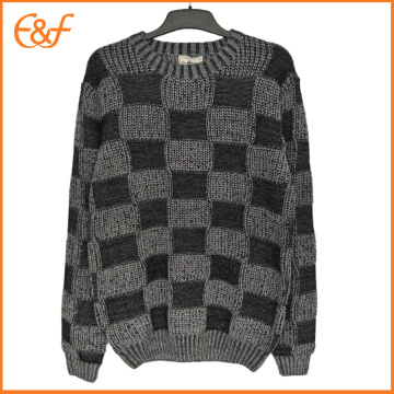 Hommes Crew-neck Pullover Boxer Pattern Jumpers