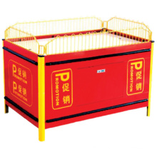 Hot sale trade show desk/Supermarket moveable stacking promotion cage/Supermarket metal folding promotion table