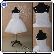 FF0005 El último diseño del vestido rebordeó los vestidos de la muchacha de flor del vestido de bola de los cabritos de los cabritos para la boda