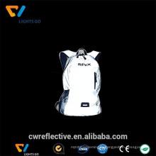 Tissu rétro-réfléchissant de sécurité durable fait sur commande pour le sac d'école