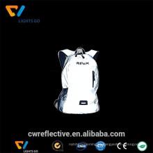 Tecido retro-reflexivo de segurança durável personalizado para mochila