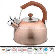 Brush Copper Stainless Steel Whistle Kettle