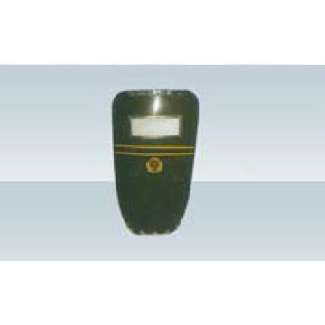 Escudo anti-motim de plástico reforçado com fibra de vidro verde exército